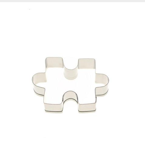 1pcs Stainless Steel Jigsaw puzzle Shape Cake Mold Cookie Cutter Fondant Cake Decorating Tools Sugar Cutter Cake Baking Tool 70