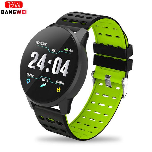 2019 Bangwei Smart Watch Blood Pressure Heart Rate Sport Mode Smartwatch Men Womens Pedometer Ip67 Waterproof Bluetooth Watches Big Clearance Sale Watches Digital Watches