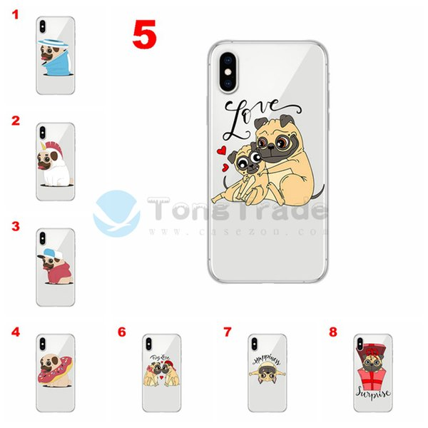 [TongTrade] Cartoon Dog Cover For iPhone XS Max XR X 8/7 6/6s Plus Case Tempered Glass Soft Silicone TPU Coloured Painting Luxury Custom Hot