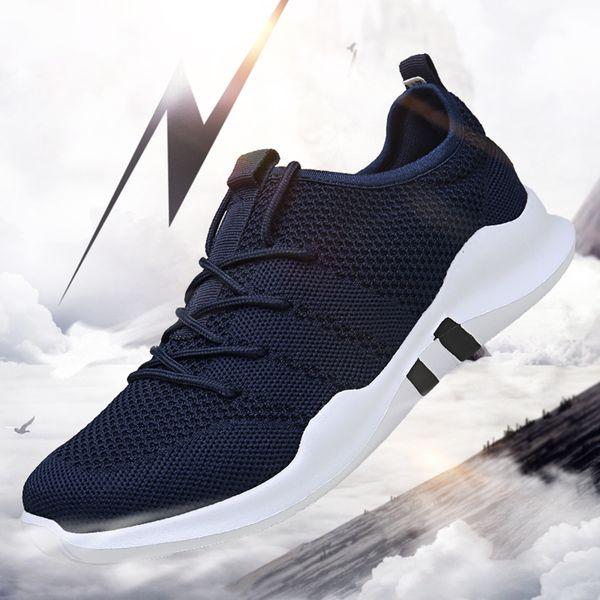 Marke Mens Casual Schuhe Leichte männliche Turnschuhe Atmungsaktives Mesh Erwachsene Mode flach Schuhe Zapatillas Hombre Große Größe 39-46