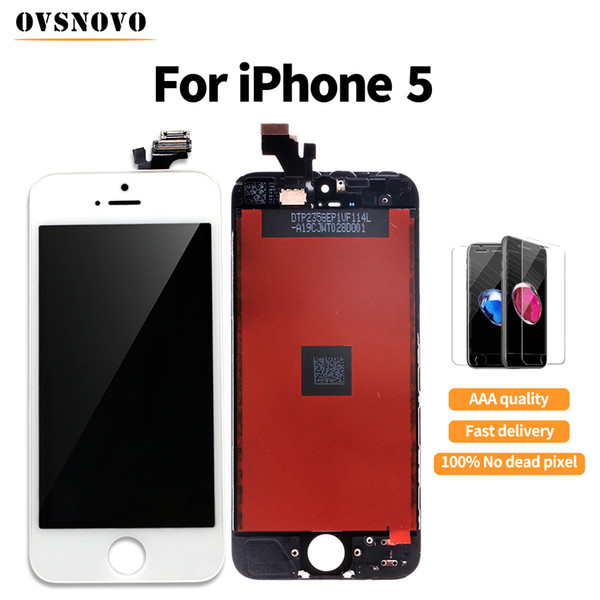100% tested Display For iPhone 5 LCD Touch Screen Digitizer Assembly Replace Display For iPhone 7 LCD+gifts+tools free shipping