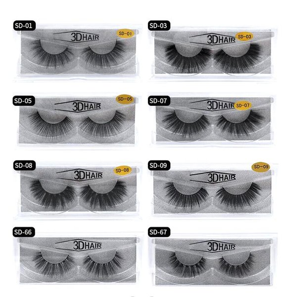 top popular Multistyles 3d Mink Hair Fake Eyelash 100% Thick real mink HAIR false eyelashes natural Extension fake Eyelashes free shipping 2020