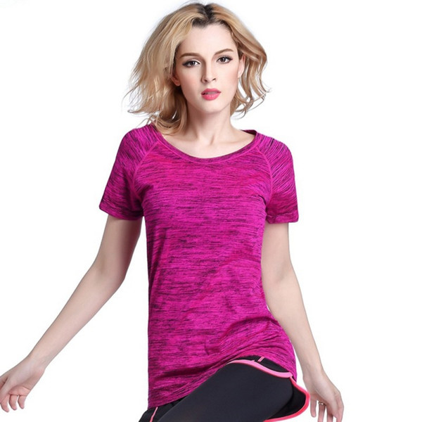 Quick Dry Professional Women Sports T Shirt For Yoga Fitness Running Jogging Gym Sweat Breathable Exercises Short Sleeve Tops #103978