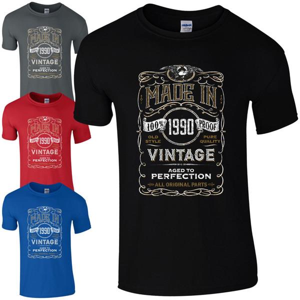 1990 yılında yapılan T-Shirt Doğan 28. Yıl Doğum Günü Yaş Mevcut Vintage Komik Mens Hediye