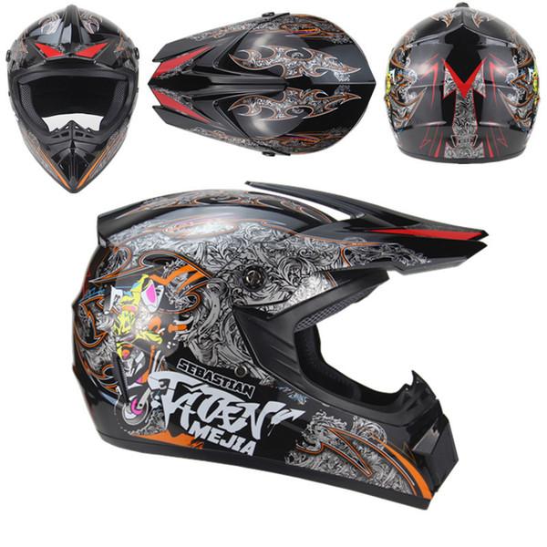 novelty motorcycle Adult motocross Off Road Helmet ATV Dirt bike Downhill DH racing helmet cross capacetes man