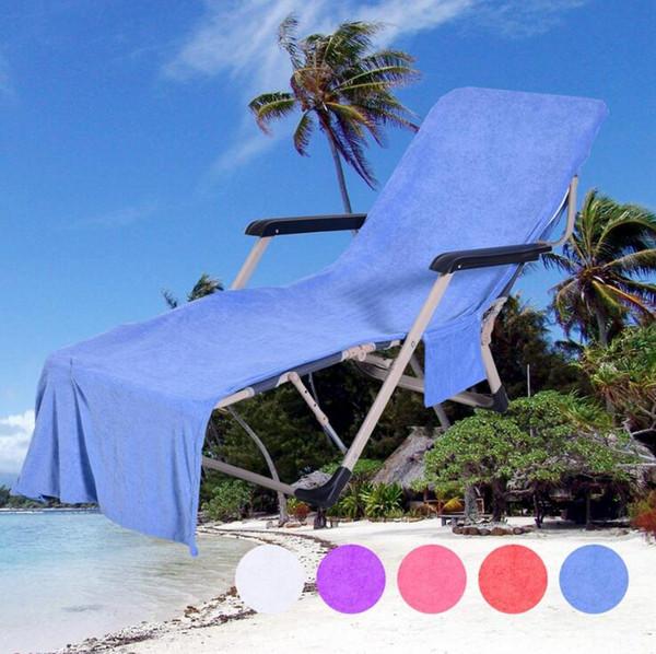 Praia Lounge Chair Covers Dobrável Cor Sólida Multi-purpose toalha de praia Duplo Velvet Sunbath Espreguiçadeira Cadeira de Praia Toalhas CLS341