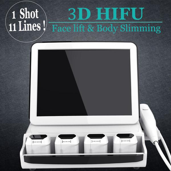 Máquina no quirúrgica de estiramiento facial 3D Hifu contra arrugas Finelines SMAS Ajuste de la piel Levantamiento de equipos de belleza Hifu