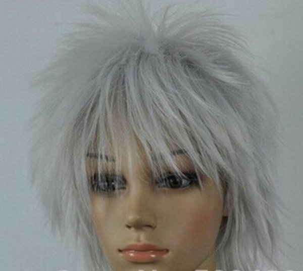 WIG 1117+++New Style Light Silver Gray Straight Short Cosplay women sexy and beautiful Wig