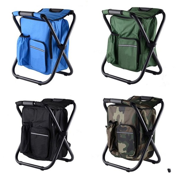 Backpack Stool Ice Pack Chair Fishing Seat Folding Outdoor Camping Picnic Climbing Bbq Beach Colors Mix 35ygf1