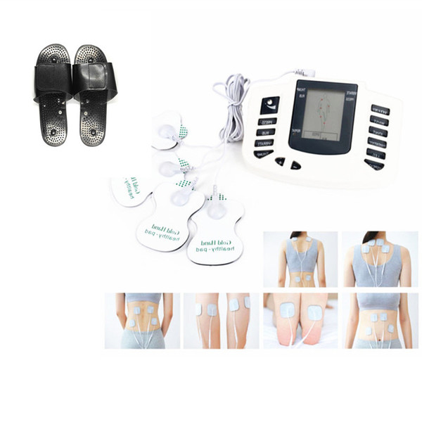 Electro Stimulation Foot Massager Slipper Electric Shock Therapy Full Body Massager Tens EMS Machine Estim Health Care Gift for Family JR309