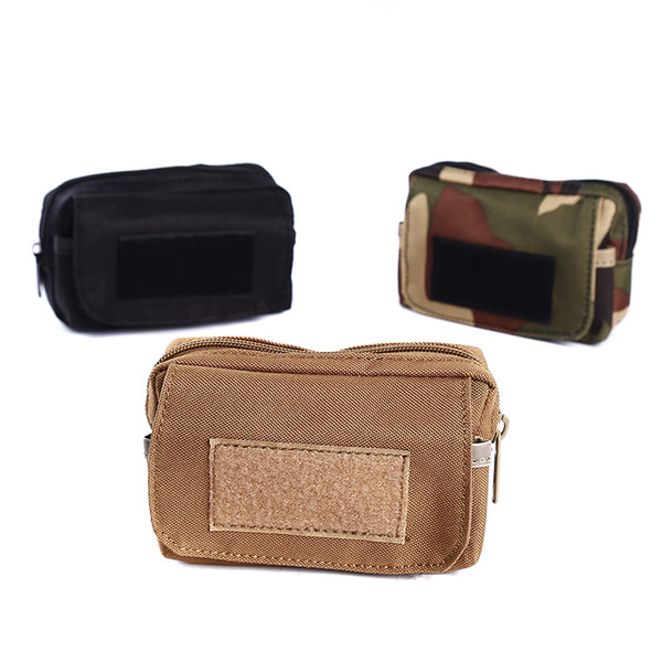 Outdoor Portable Sports multi-function Tactical Zipper Bags Small Pockets Enthusiasts Mobile Phone Parts Bag Accessory