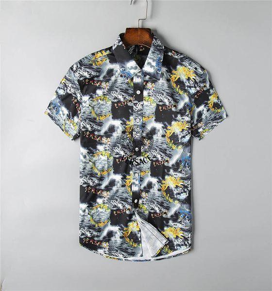 2020 SICAK Yepyeni Erkek Gömlek Erkek İş Casual Gömlek erkekler gömlek elbise Uzun kollu Medusa Retro lüks gömlek