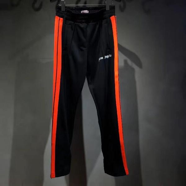 Пальмовые Angels Мужские спортивные штаны Женщины Jogger Брюки шнурком Длинные штаны высокой моды 5 цветов Side нашивки повседневные брюки бегуны