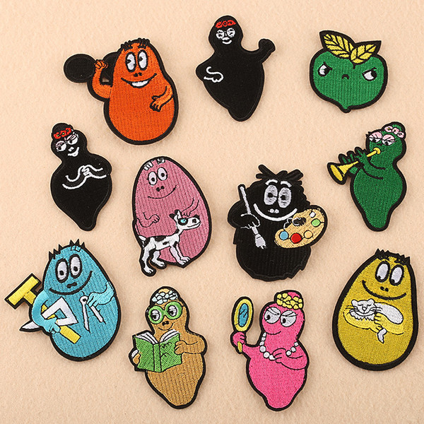 Cartoon Lovely Cute Fabric Embroidery Patches Sew Iron On Applique Patch Badge DIY Badges For Baby Kids Clothes Jeans Bag