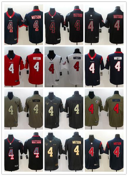 promo code 29055 b5178 2018 2019 New Mens 4 Deshaun Watson Texans Football Jerseys 100% Stitched  Embroidery Texans Deshaun Watson #Rush Football Shirts From Gogo_space, ...
