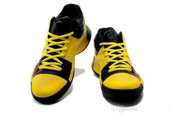 Top Quality Men Irving 3 Casual Shoes MM Bruce Lee Kobe Yellow Mamba Mentality Classic Kyrobe Yellow/Black Outdoor Sneakers 40-46