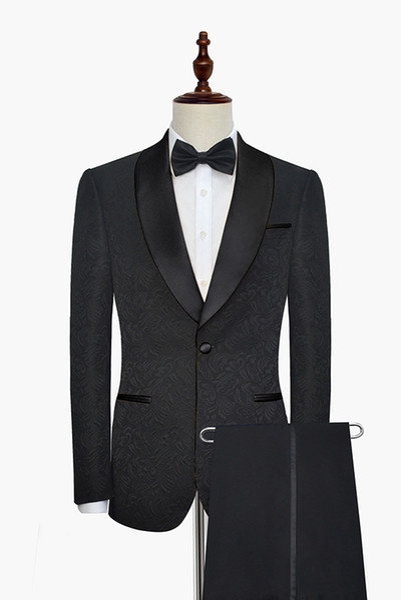 Custom Made Groomsmen Shawl Lapel Groom Tuxedos One Button Men Suits Wedding/Prom/Dinner Best Man Blazer ( Jacket+Pants+Tie) G60