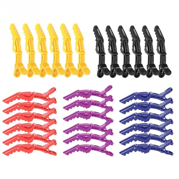 6 Pcs Hair Clips Anti-slip Single Prong Hairdressing Hair Section Claw Clasps Barrette bc