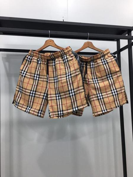 19SS Yeni Lüks marka BBR Kısa Pantolon Pantolon Erkek Kadın moda Ekose spor Jogging Yapan Rahat Streetwear Sweatpants Açık Kısa Pantolon