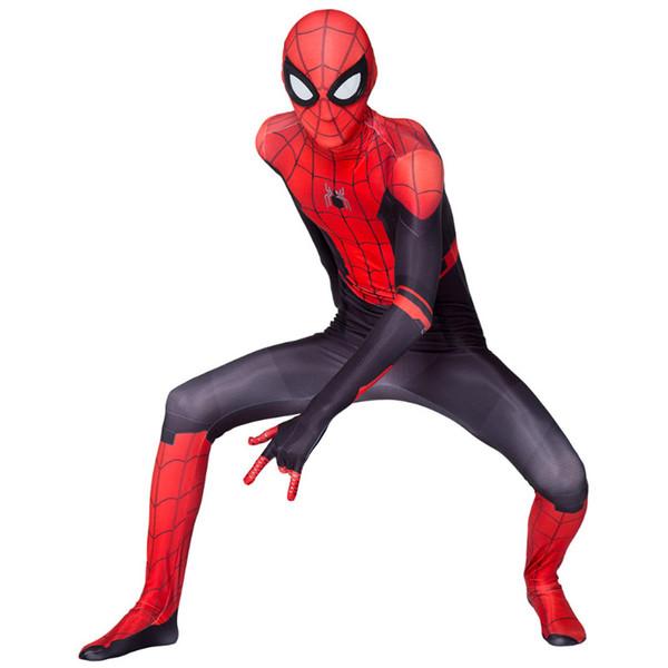 più venduti Halloween super eroe Spider-Man costume Slim Uniformi Cosplay Collant partito capi per Bambini