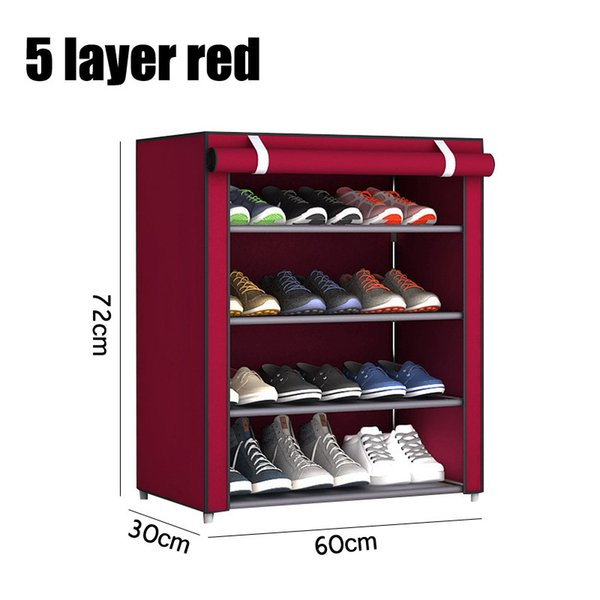 5 layer red