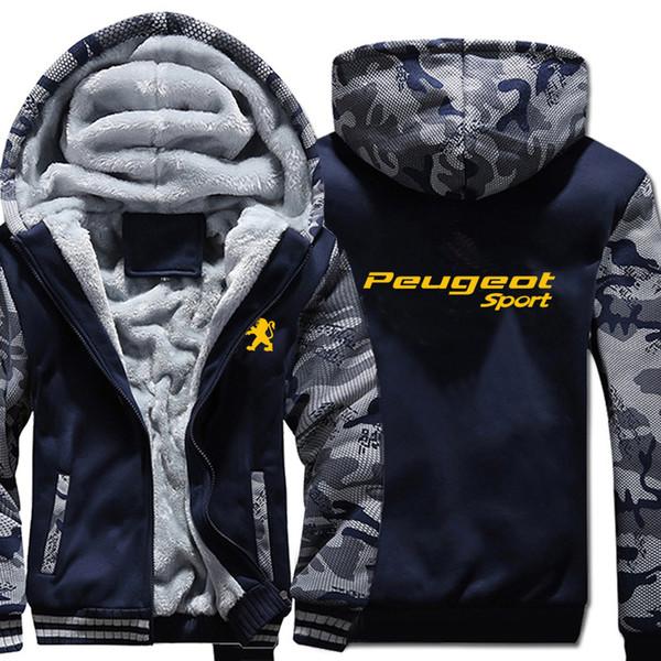 2020 sport car hoodies logo print winter thicken camouflage sleeve zipper jacket men women fleece camo hoody sweatshirts