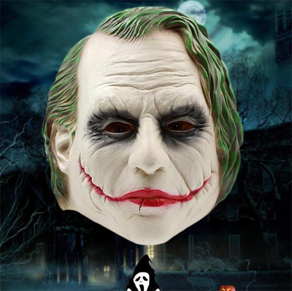 Halloween Batman Clown Mask Cappuccio in lattice pieno Cavaliere oscuro Copricapo Maschera Festa in costume Puntelli di carnevale Cosplay