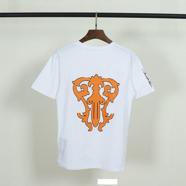Chromes mens tshirt Cuore spada stampa cotone t-shirt tendenza di marca t shirt personalizzata personalizzata moda casual paio magliette donne hip-hop tee