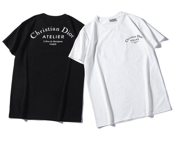Italien Classique Conception kanye west Short Di Manche Nouveau donner Design Best-seller De La Mode Alphabet Imprimé Couple Confortable T-shirt