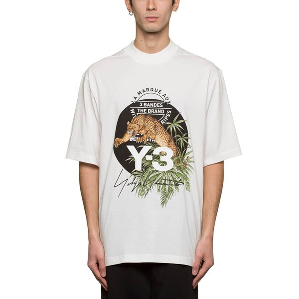 2019 New Mens T-shirt Panther Graphic Tee Tropical Style Tumblr Tee