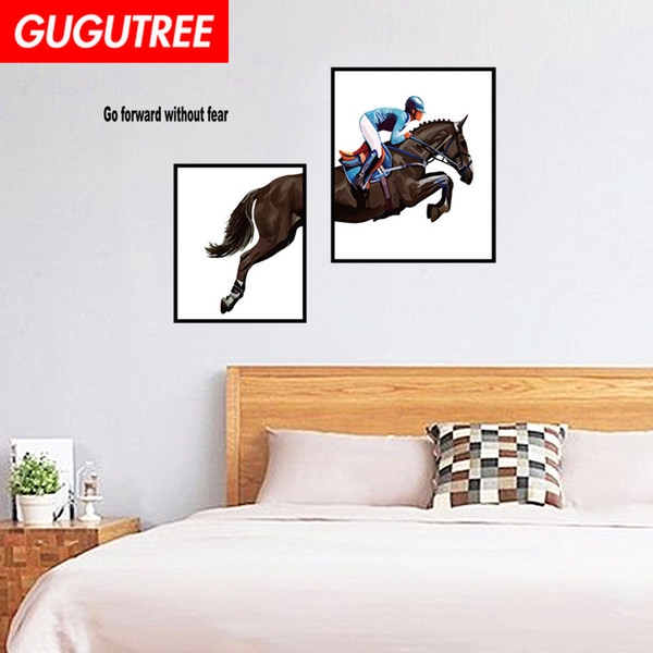 Decorate Home horse cartoon art wall sticker decoration Decals mural painting Removable Decor Wallpaper G-1651