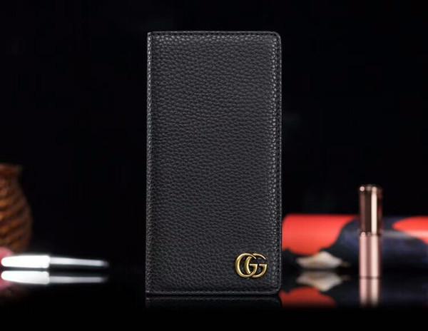 Luxueux Simple Portefeuille Designer PU En Cuir Cas De Téléphone Pour IPhone X XS MAX XR 8plus 8 7plus 7 6 6s Carte Plug-in Carte Smartphone Couverture Cas shell