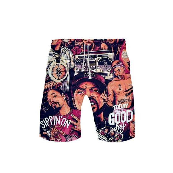 2019 3D BIGGIE streetwear Casual Spring Summer Board Shorts Men/Women Hip Hop Fashion