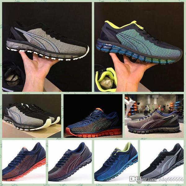 Asics GEL-QUANTUM 360 KNIT 1 2018 Nouvel Original GEL-Quantumss 360 CM T6G1N / T5J1N-0990 Décoloration Chaussures de Course Hommes Haut Qualité Bottes Sport Sneaker Chaussures
