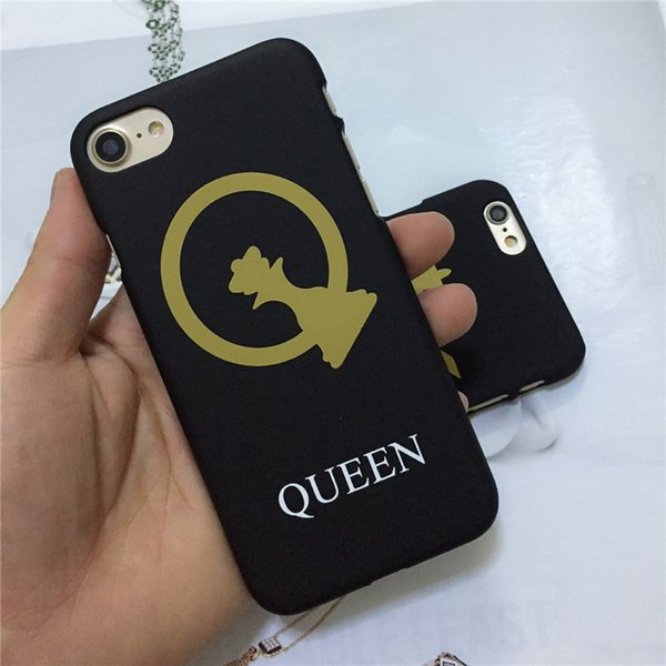 Fashion Creative Frosted IPhone Case for Lovers with Letter King and Queen 2 Styles for Iphone 5/5S/SE 6/6S Plus 8plus 7/8 7/8 Plus