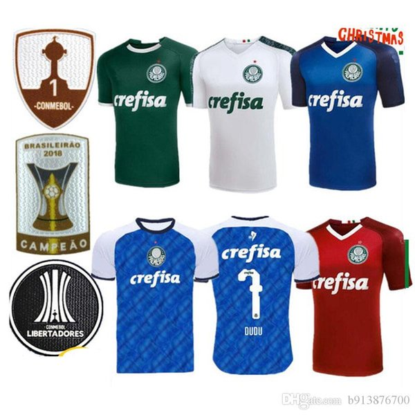 2019 Palmeiras FOOTBALL HOME VERT DUDU G.JESUS Alecsandro Palmeiras MAILLOTS ALLIONE Cleiton 19 20 femme maillot de football Brasil