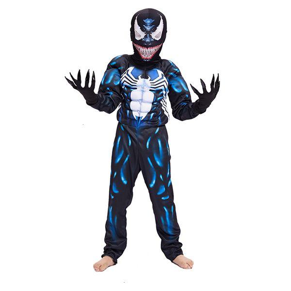 Hohe Qualität Venom Spiderman Muskel Kostüm Marvel Superhero Movie Venom-Kostüm-Kind-Junge-Halloween-Kostüm für KidsMX190921