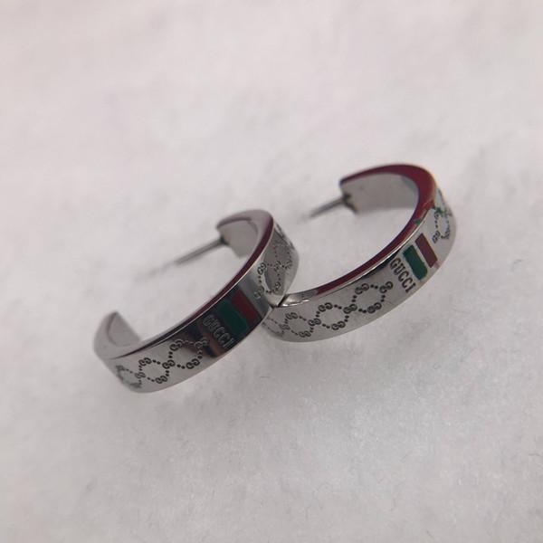Moda gioielli rosso verde placcatura di alta qualità in argento sterling 925 orecchini a cerchio orecchini regali di moda cerchio orecchino