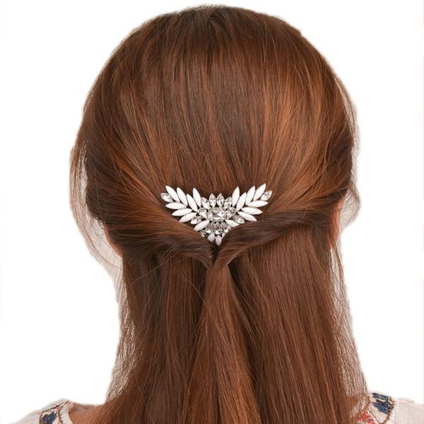 Haimeikang Sparkling Crystal Wedding Hair Accessories Fashion Hair Combs Bridesmaids Tiara Trendy Clip For Women Headwear
