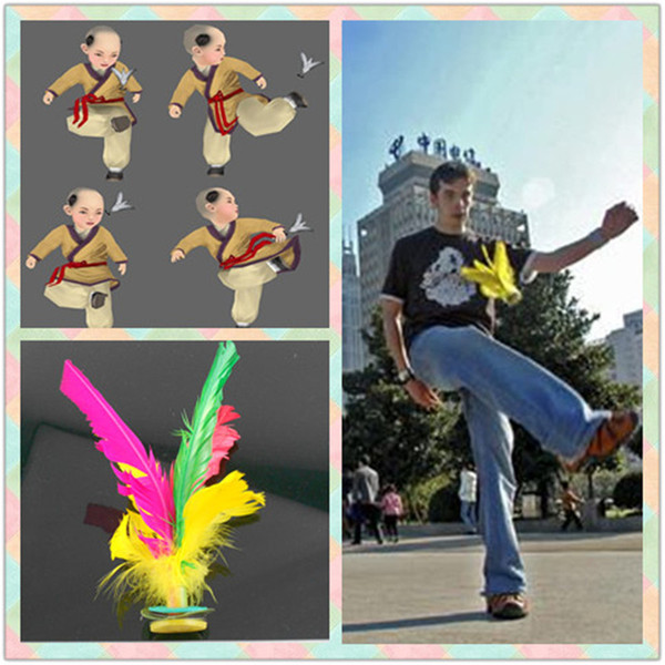 best selling Brand New Colorful Feather Chinese Jianzi Foot Sports Toy Game Kicking Kick Shuttlecock For Outdoor Games