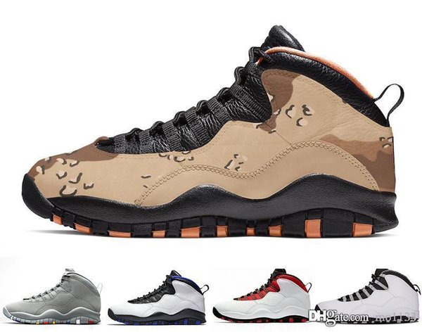 Desert Camo 10s Mens Basketball Shoes Woodland Orland Cement 10 Westbrook I'm back Dark Smoke retro Grey sports Designer Sneakers Size