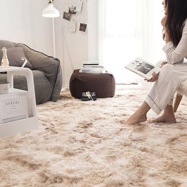 Großhandel Bereich Teppich Teppichboden Schlafzimmer Home Polyesterfaser  Tie Gefärbt Warme Flauschige Teppiche Shaggy Mat Von Curteney, $35.88 Auf  ...
