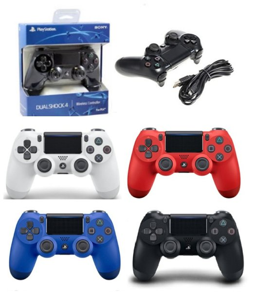 top popular Newest PS4 Wireless Game Controller Gamepad Joystick High Quality Playstation with Retail package free DHL shipping 2019