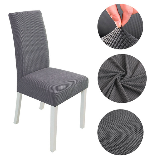 Modern Spandex Chair Covers For Kitchen/Wedding/Dining Room Polar Fleece  Fabric Chair Cover Elastic Covers With Back Parsons Chair Covers Recliner  ...