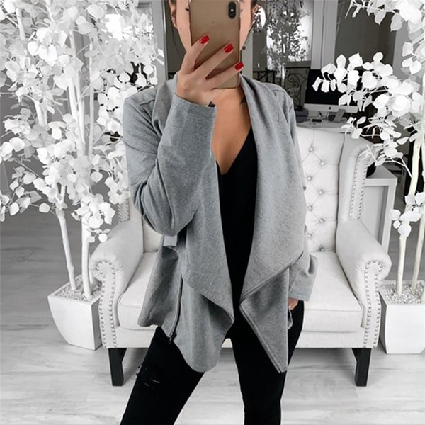 Women Jackets Spring Autumn Mostly Female Long Sleeve Open Front Short Cardigan Suit Jacket Work Office Coat Top women's Trench