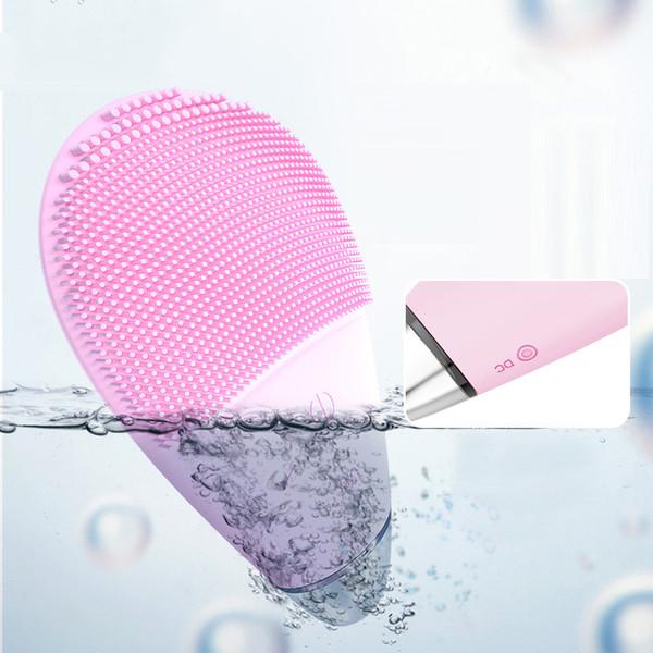 Silicone Deep Clean Nettoyant Visage Vibration Nettoyage Pulsating Brosses gel nettoyant visage Silice électrique de massage pour les soins de la peau