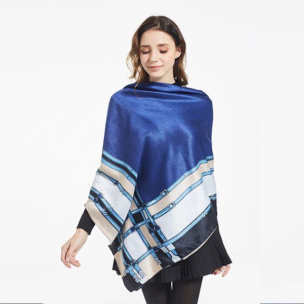Lenços de inverno Para As Mulheres Da Moda Cachecol De Caxemira Lenços de Impressão Femininos Para Senhoras Poncho Quadrado de Luxo Xaile Hijab Bandana140x140 cm