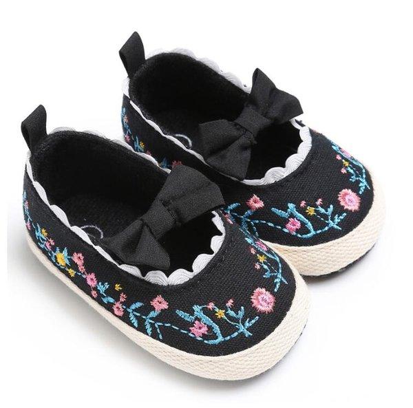 da5d3571 QYFLYXUE Primavera, verano y otoño nuevos 0-1 años de edad, zapatos  femeninos para bebés y niños pequeños zapatos de princesa con suela blanda 0 -1 sí