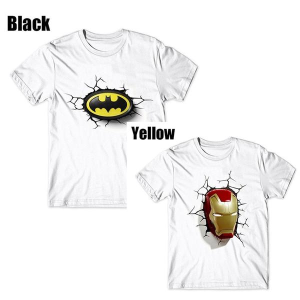 Новые Mens лета тенниски способа высокого качества Америка Superman Spiderman 3d Печатные футболки Жаркое лето с коротким рукавом S-3XL