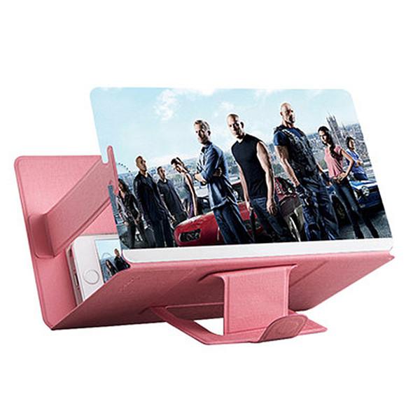 3D Phone Screen Magnifier Stereoscopico Amplificazione Desktop Pieghevole in pelle Staffa per cellulare Supporto per Tablet